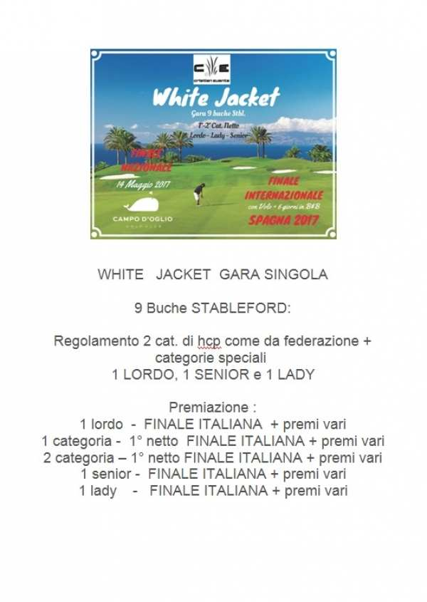 WHITE JACKET gare 9 buche
