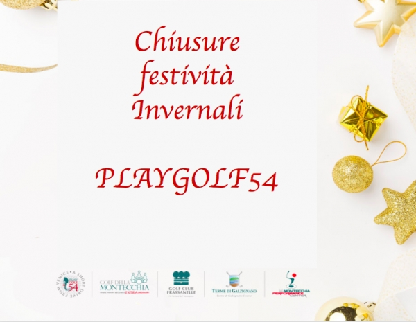 PLAYGOLF54 - CHIUSURE FESTIVITA